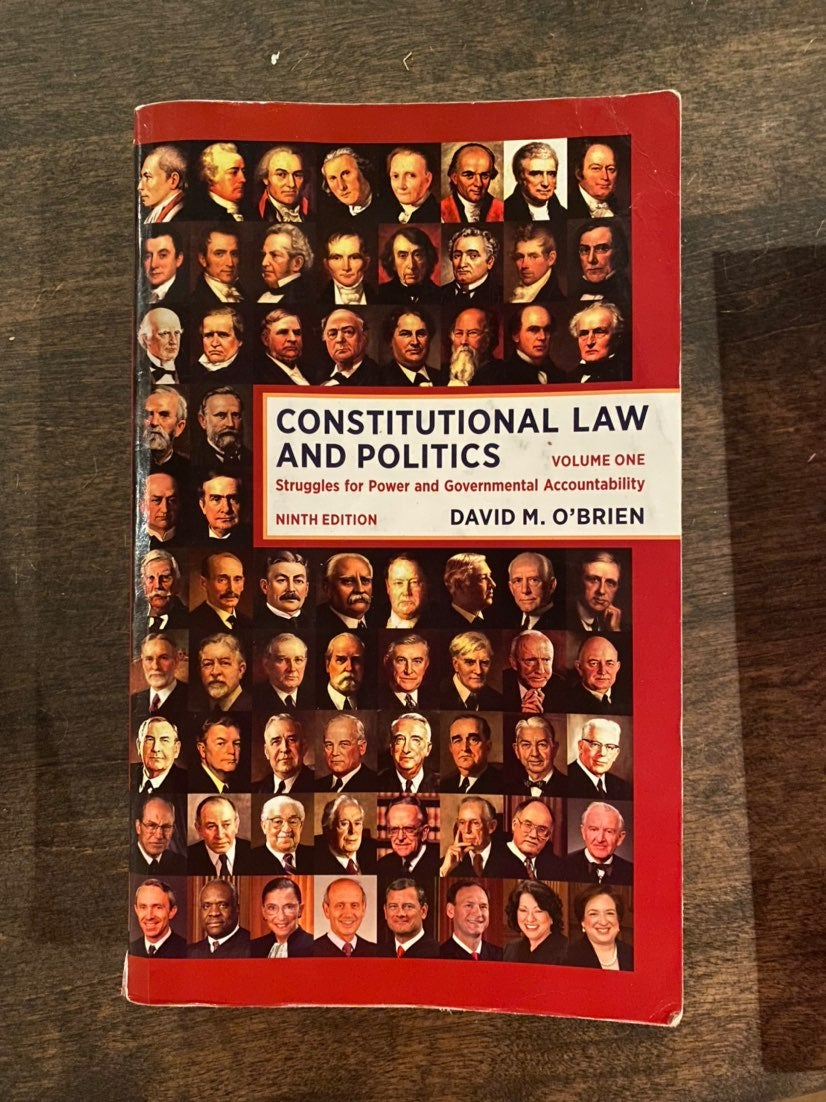 Constitutional Law and Politics textbook