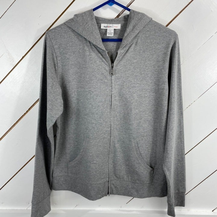 Style And Co Womens Gray Long Sleeves Co
