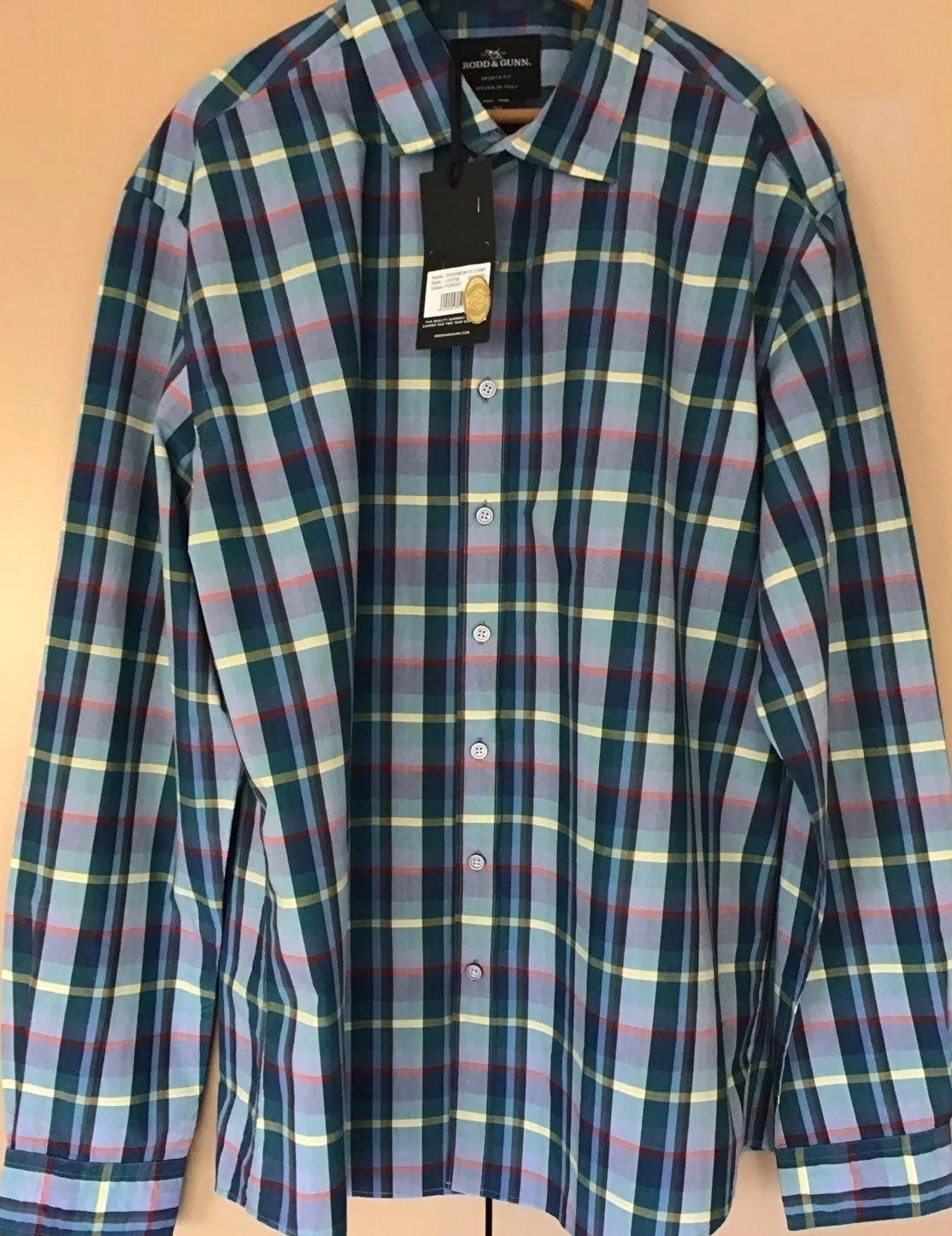 Rodd&Gunn NWT Mens Plaid LSleeve Shirt