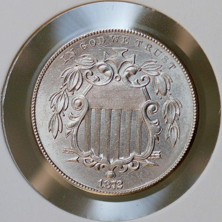 1872 Shield Nickel - Gem BU / MS / UNC
