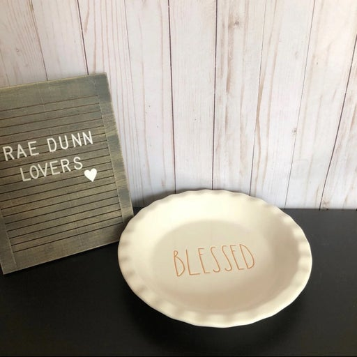 Rae Dunn Blessed Pie plate