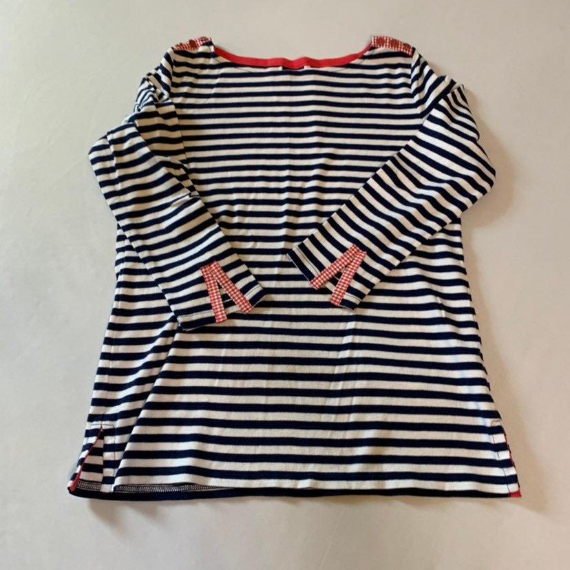 Rafaella Striped 3/4 length sleeve top S
