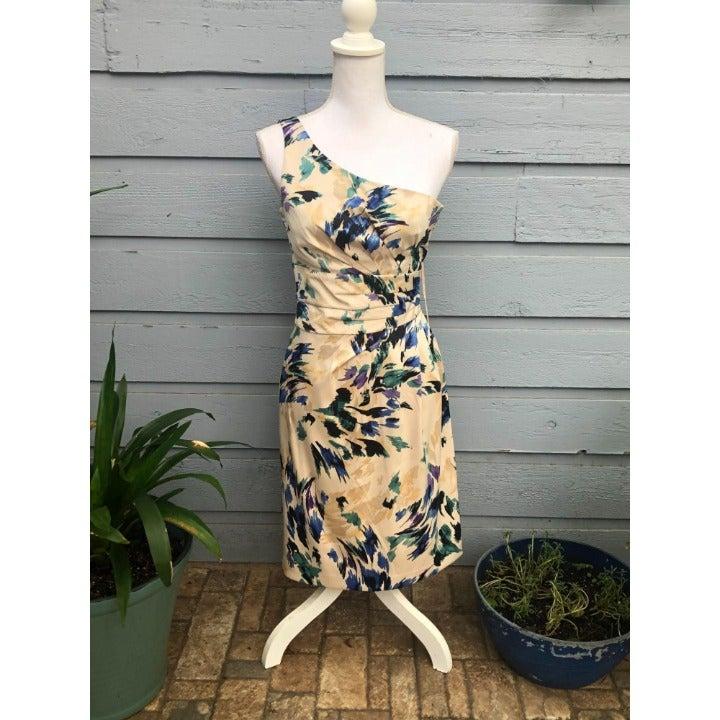 NWT Antonio Melani One Shoulder Abstract Dress