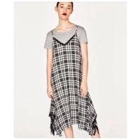 e8a5823986 Zara Gingham Camisole Dress