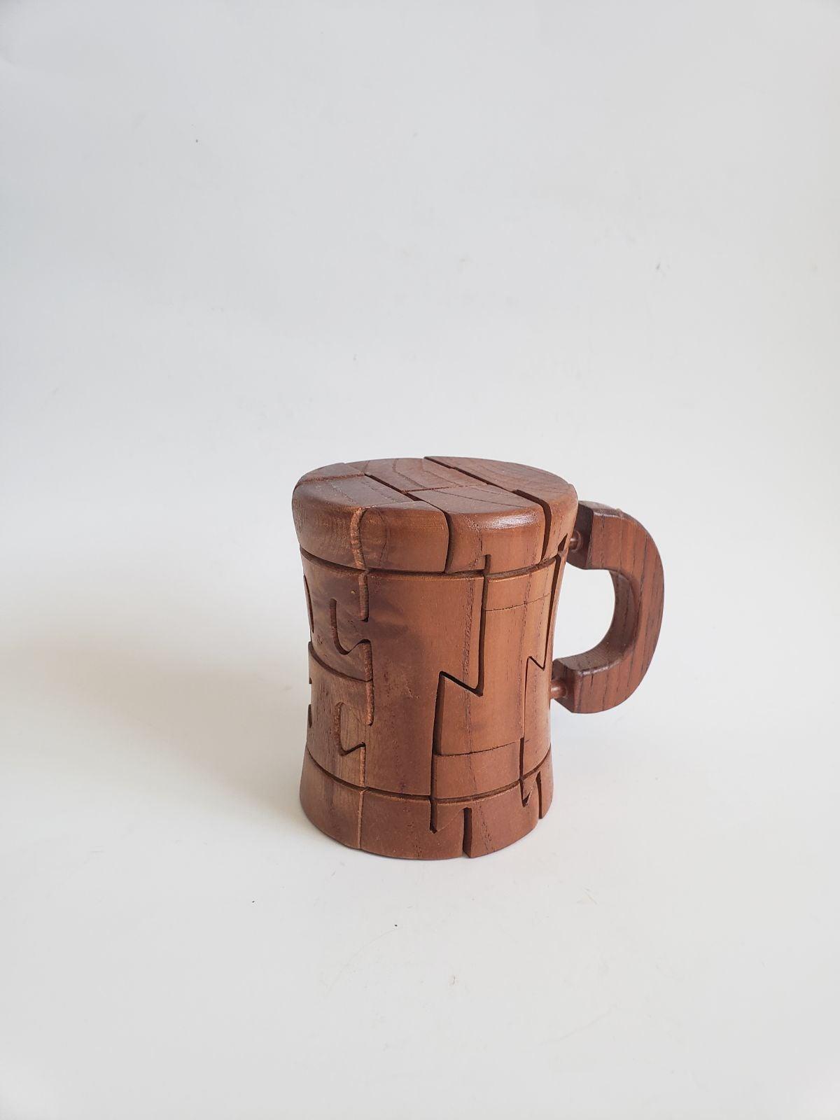 Wooden Puzle Beer Mug