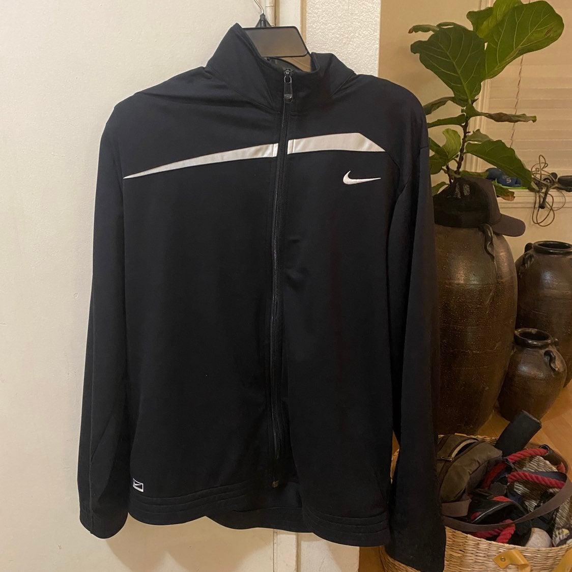 Large Nike Zip Jacket Sweater Basketball