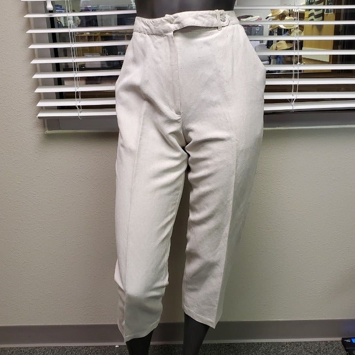 EXPRESS Vintage Tan Linen Pants Size 7/8