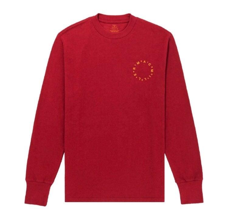 Mac Miller Circles Red Long Sleeve (M)