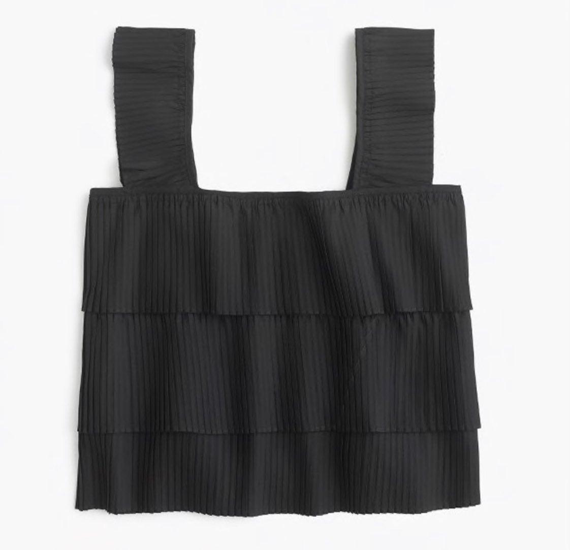 Jcrew women's ruffled sleeveless top