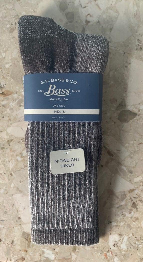 Bass men's midweight hiker socks