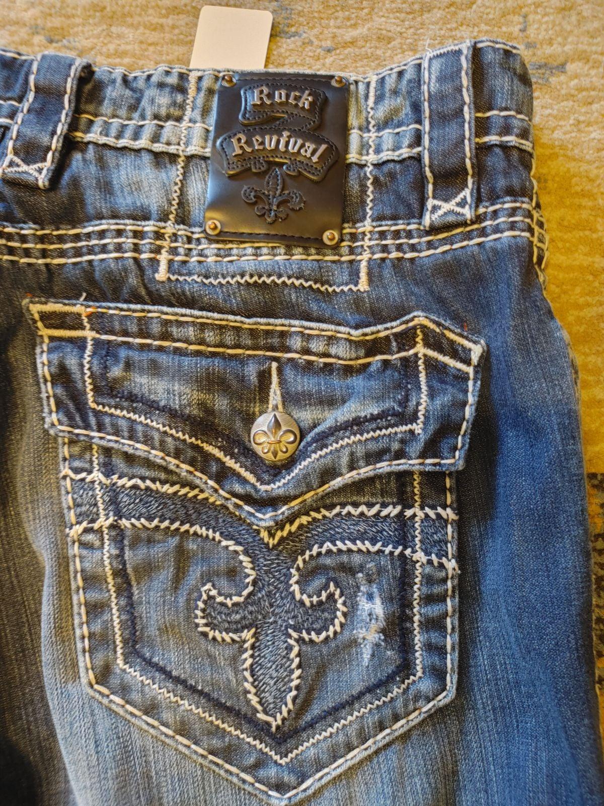 Men's Rock Revival Jeans Size 36x30