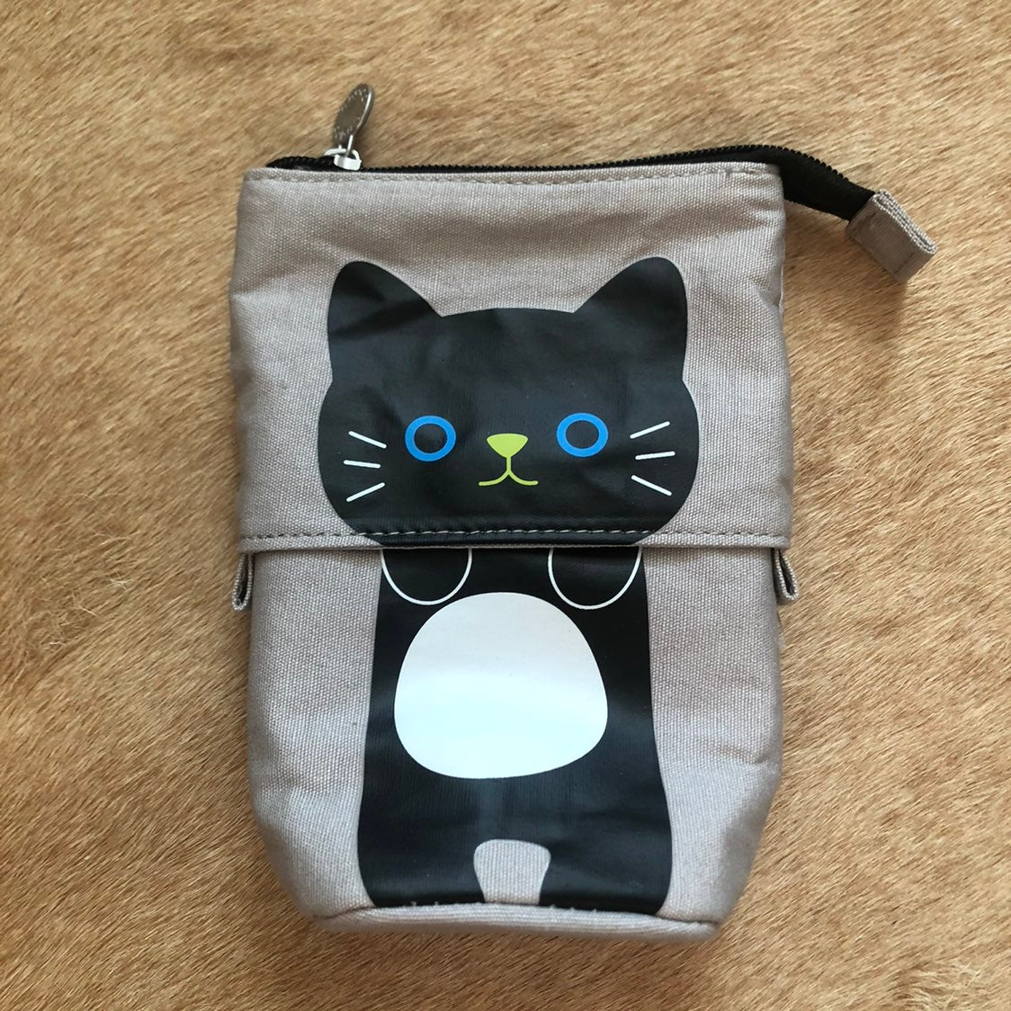 NWOT Cute Squatting Kitty Pencil Case