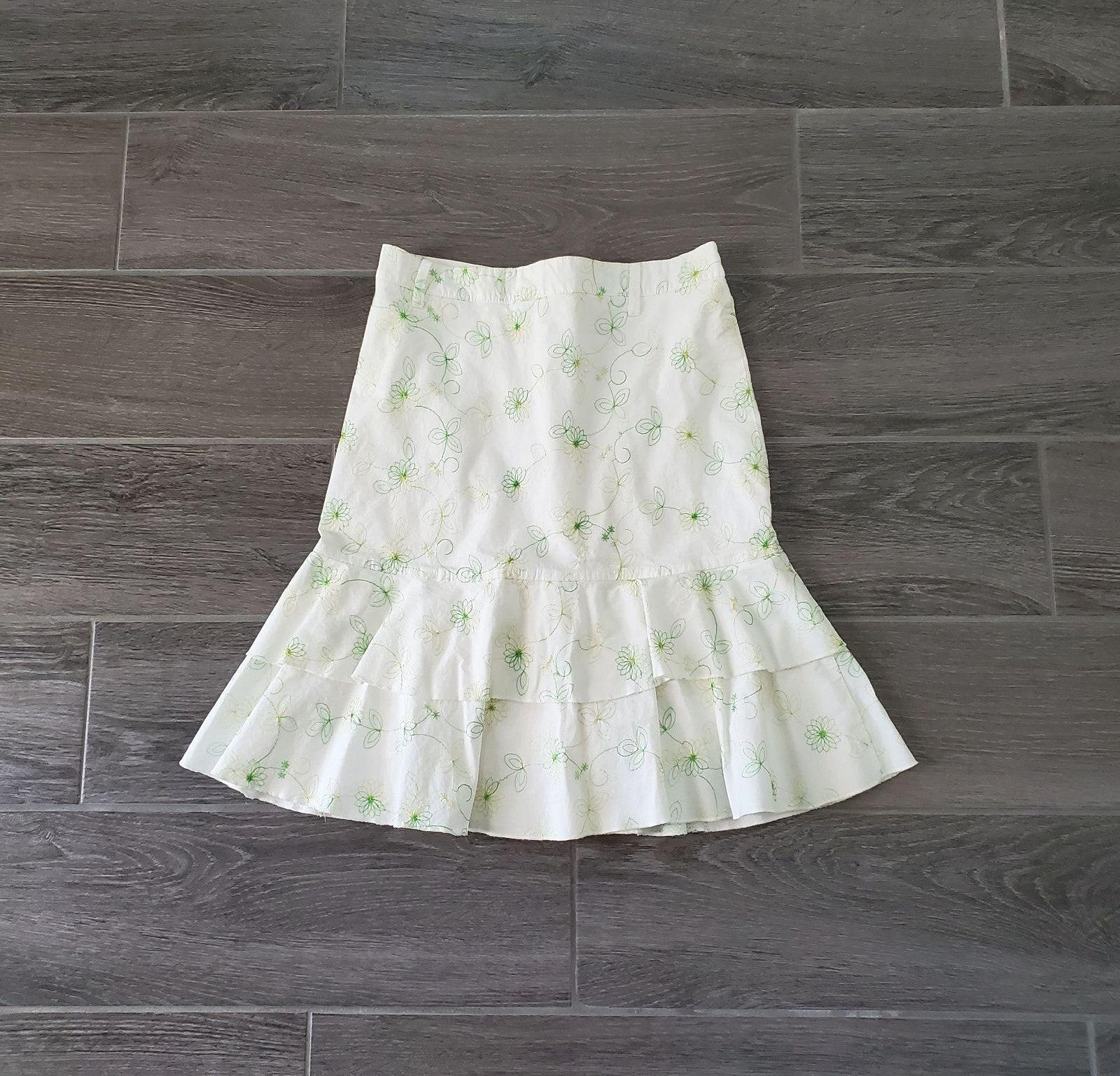 NWOT Y2K Forever 21 White A-Line Skirt