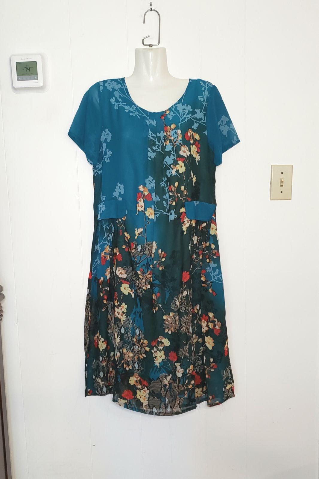 Floral Summer Shift Dress NWT