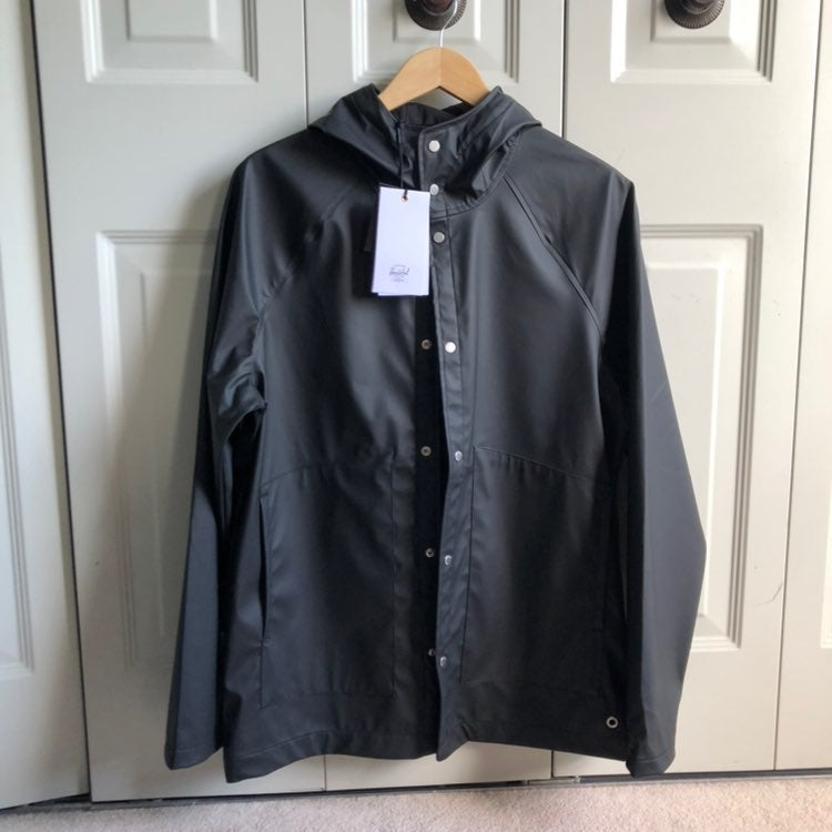 NWT Mens herschel supply co raincoat