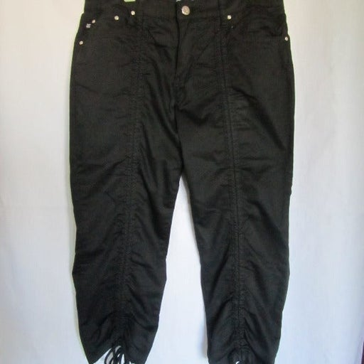 Crest Jeans Black Drawstring Crop Pnats