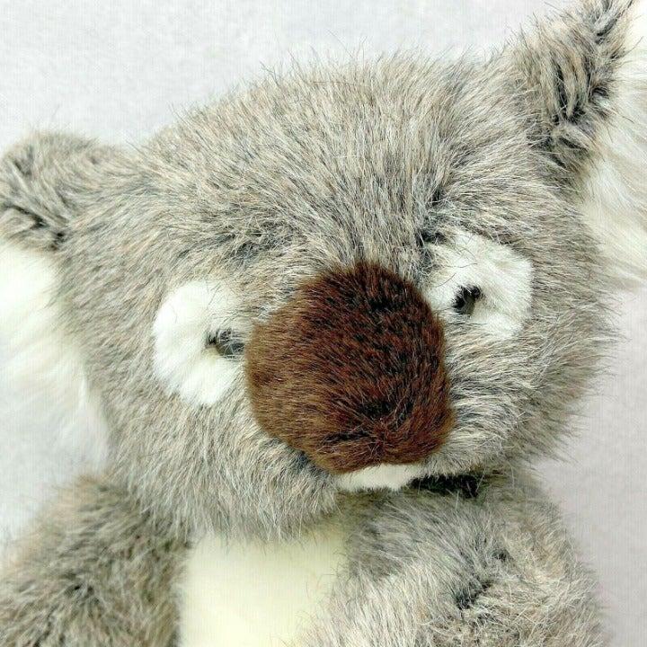 "Vtg Russ Yomiko Koala Teddy Bear Plush Stuffed Animal 10"" Mottled Fur Marsupial"