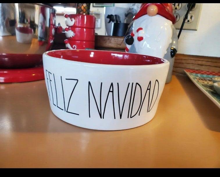 Feliz Navidad bowl