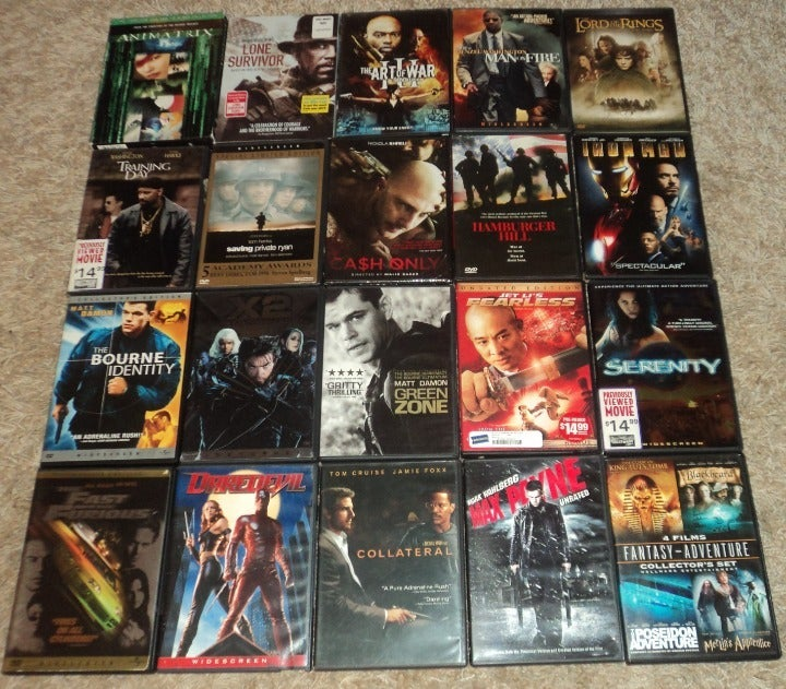 LOT OF 20 - ACTION / ADVENTURE DVDS