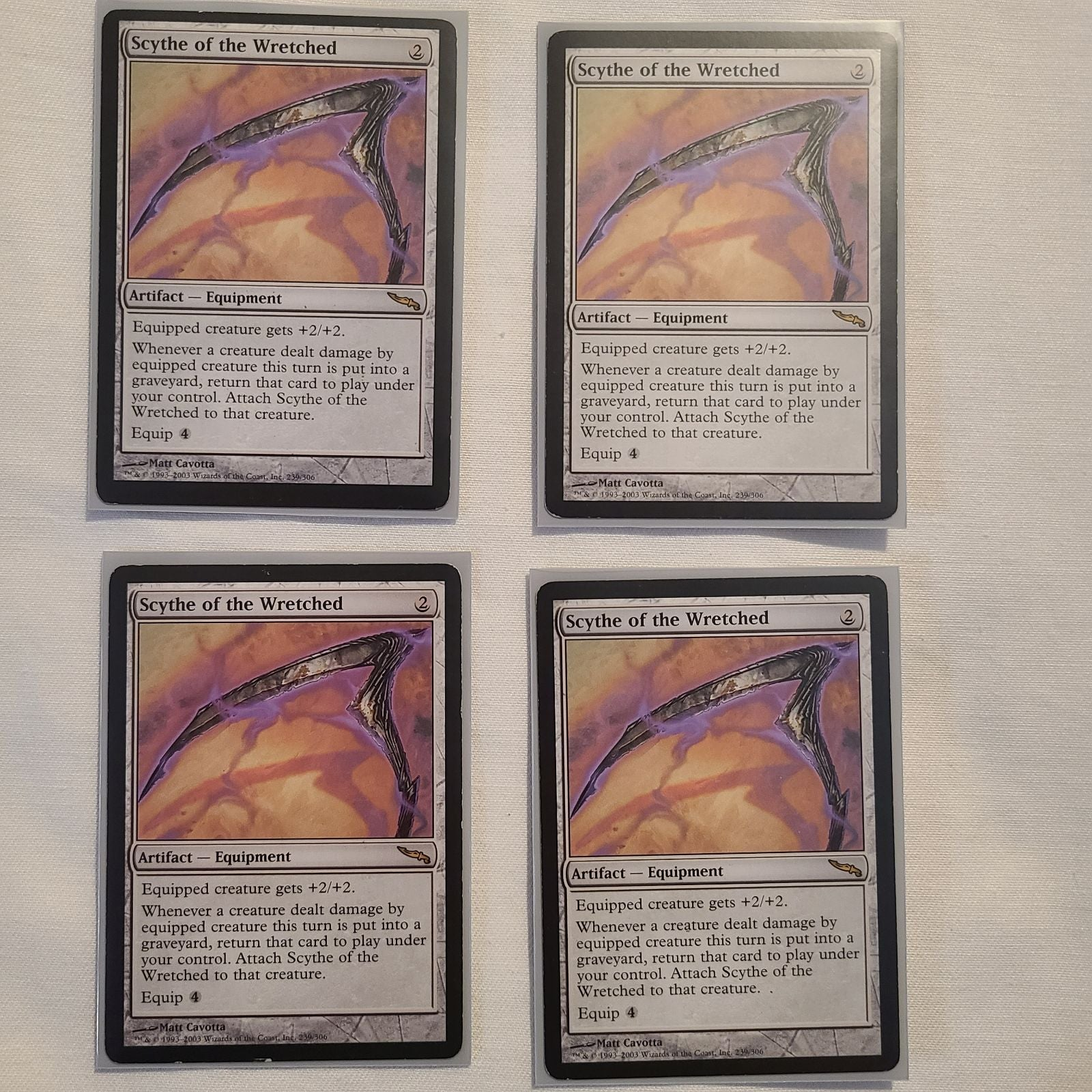 MTG: 4x Scythe of the Wretched