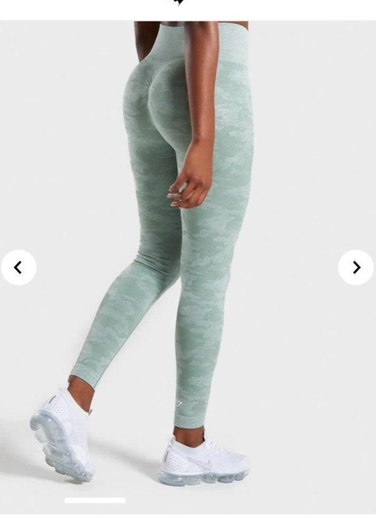 Gymshark camo seamless leggings Sage Gre