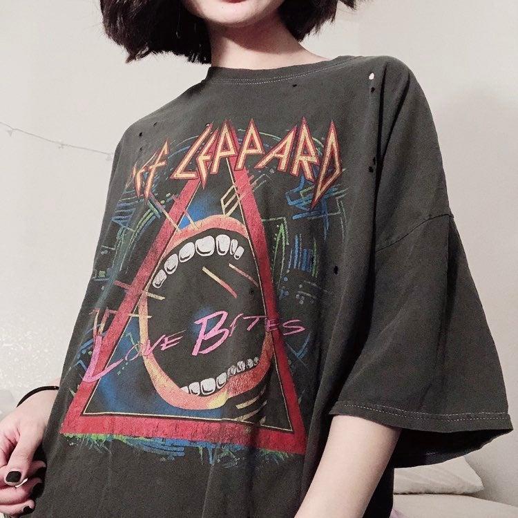 Def Leppard Oversized T-Shirt Dress