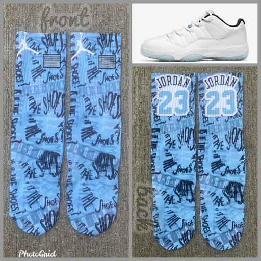 11 low legend blue socks