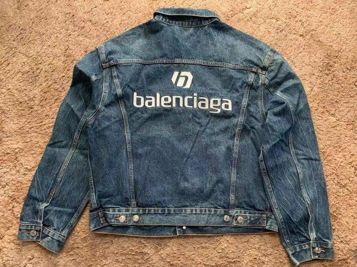 Balenciaga Back Logo Jean Jacket