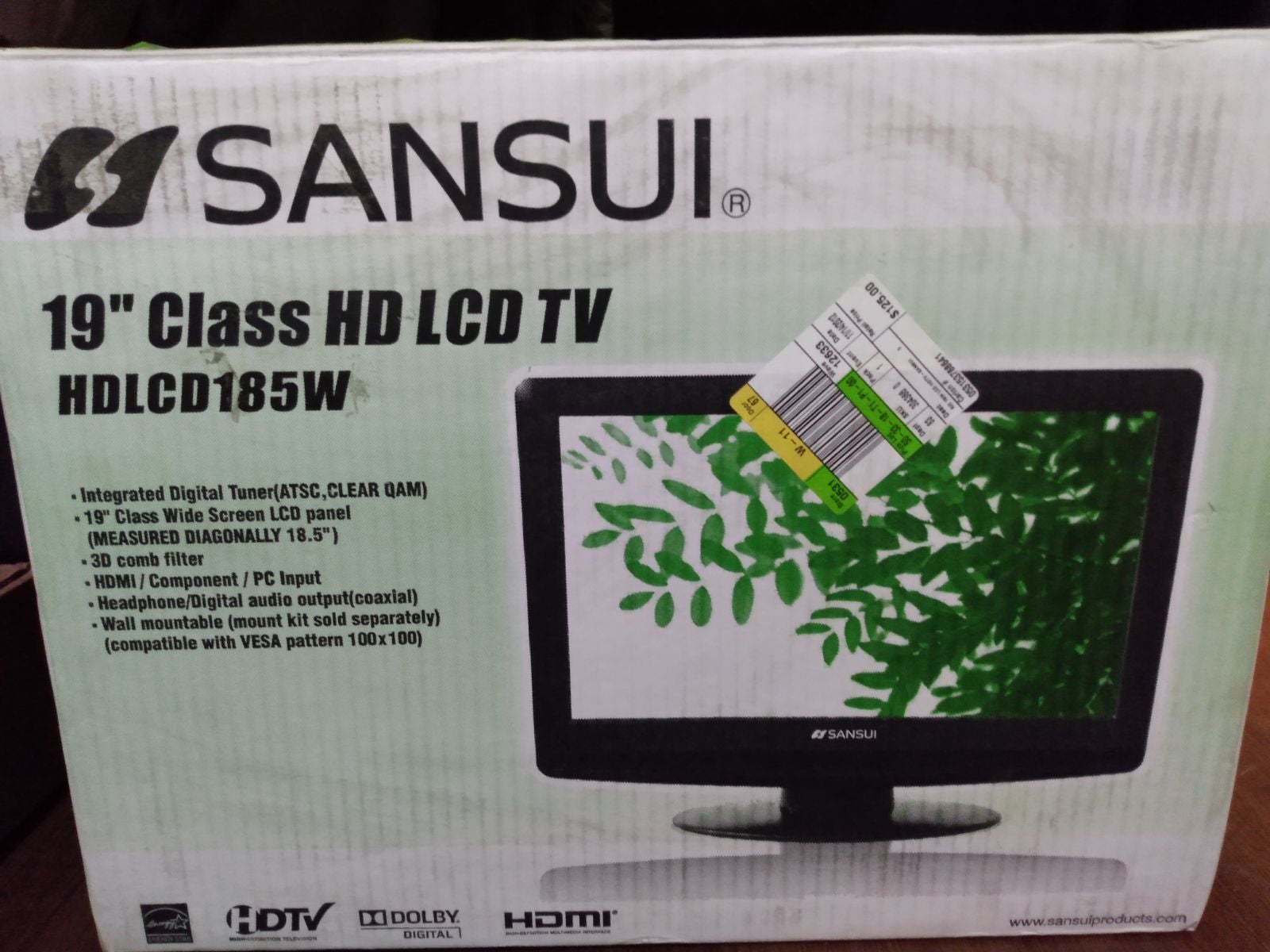 "Sansui 19"" HD LCD TV"