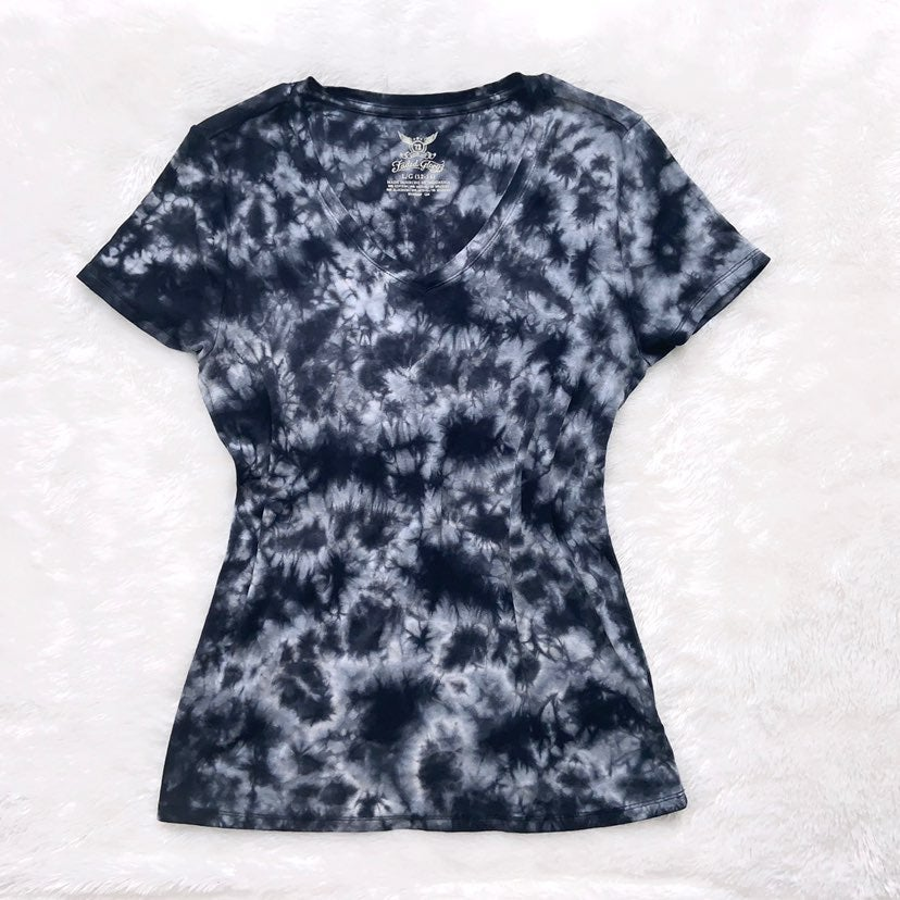 Faded Glory Tie Dye V-Neck Top