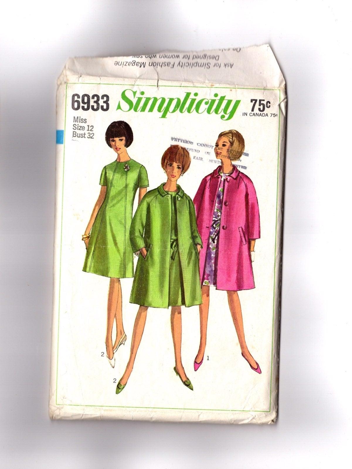 Vintage Pattern 1960s Dress & Coat