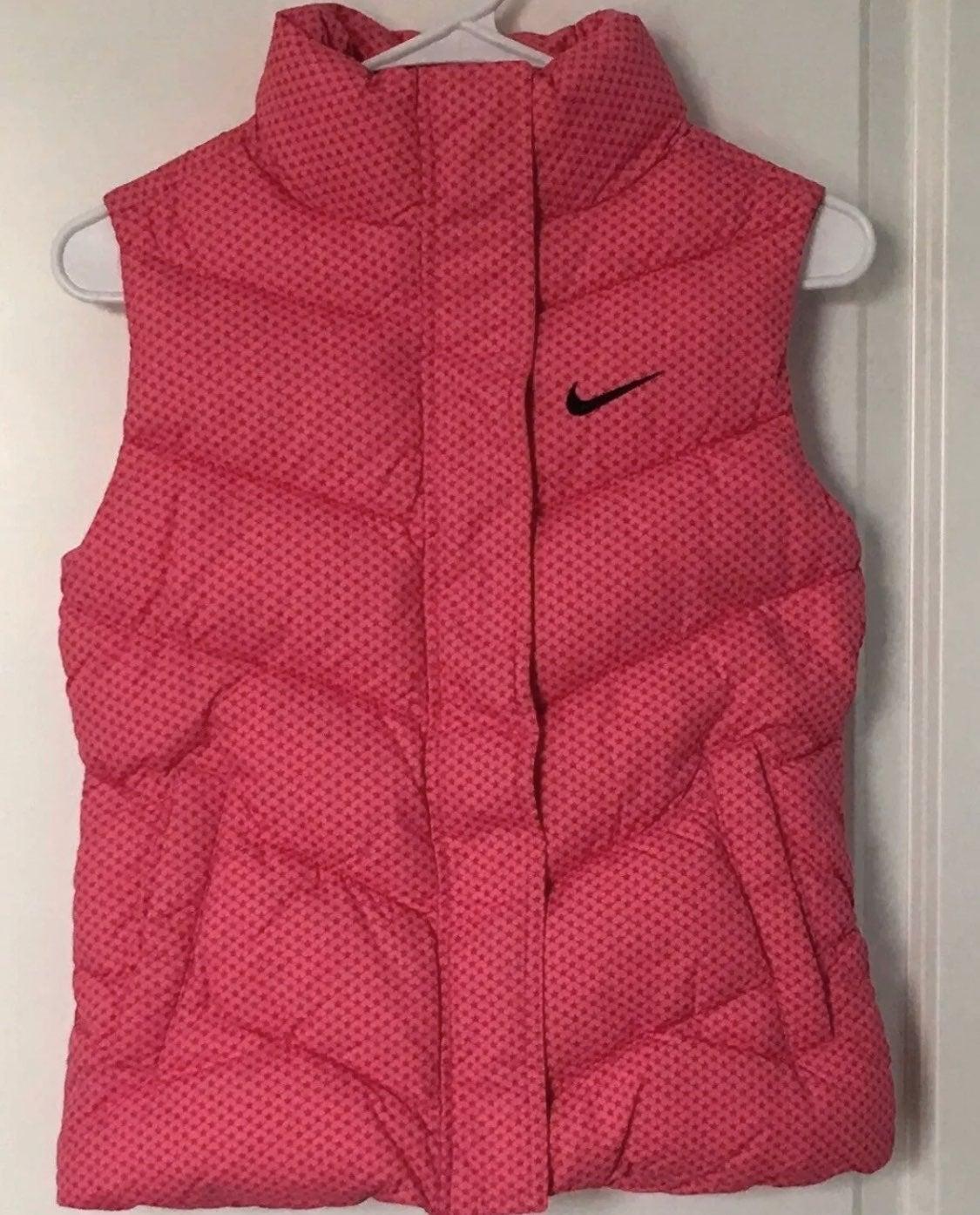 Nike Girls Size Small 8 Puffer Vest Pink