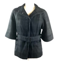 b4f9f73255cd Banana Republic Plaid Wool Belt Jacket. Banana Republic. XS