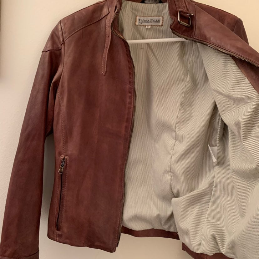 Vera Pelle Brown Women's Jacket