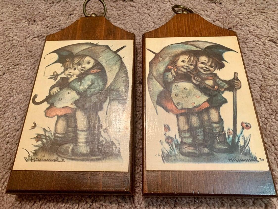 M.I. Hummel hanging art pair