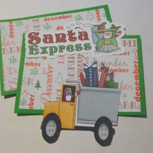 Santa Express - Scrapbook or Card Set