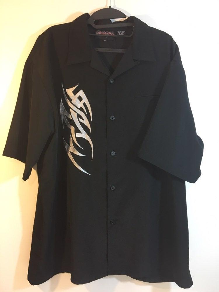 Sapphire mens tribal black shirt XL