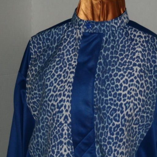 Mans Blue African Shirt with Facemask.