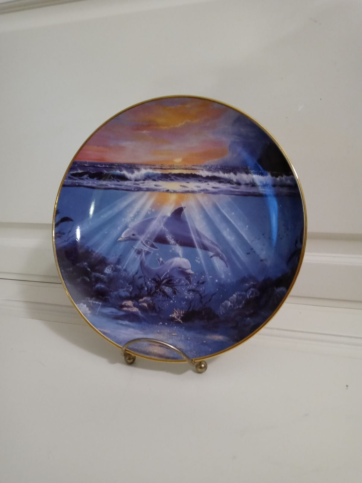 """""""Dance of the Dolphin"""" Collectors Plate"""