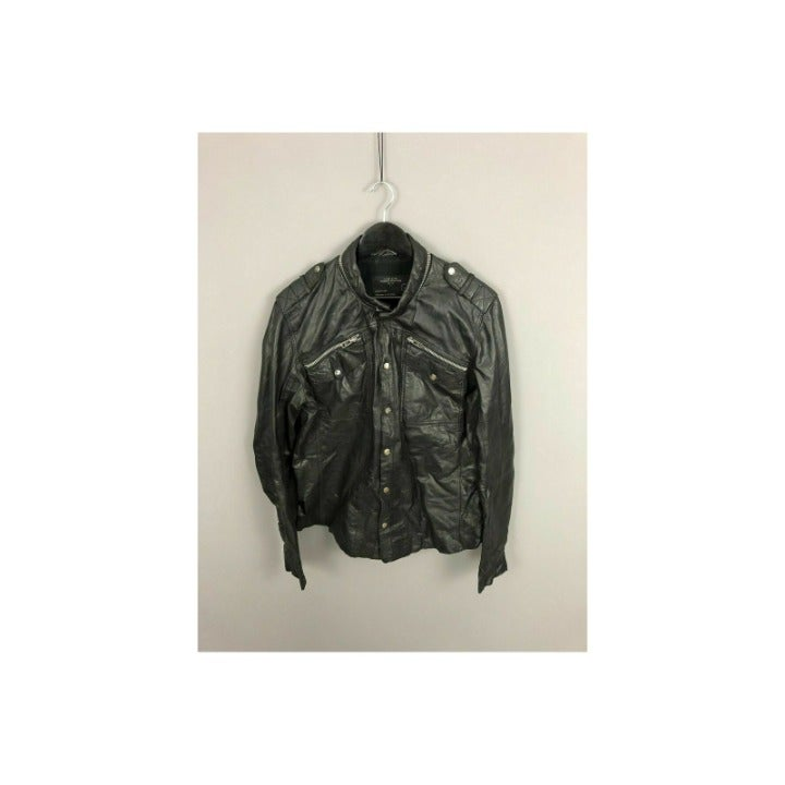 Mens All Saints Post Noon Shirt leather