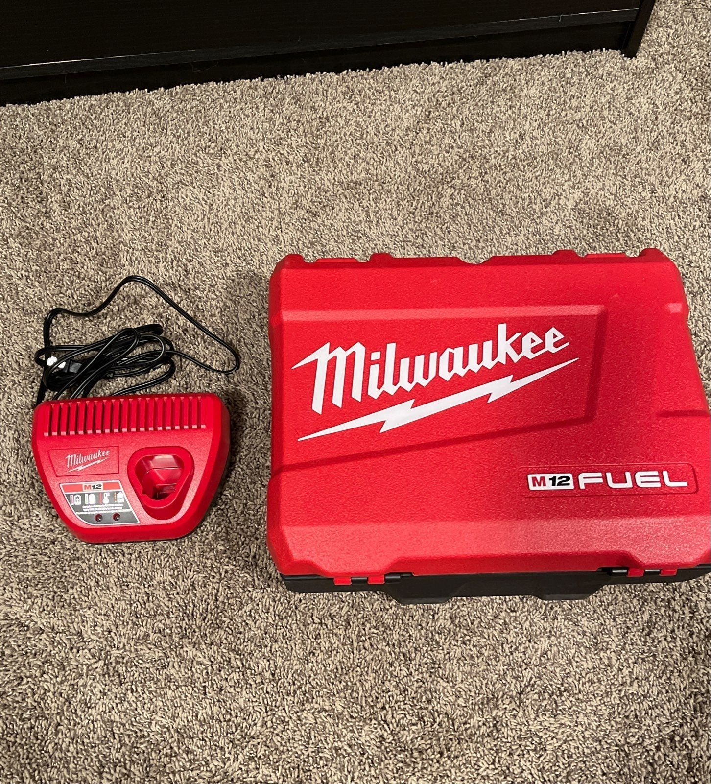 Milwaukee M12 Charger + M12 Impact Drill