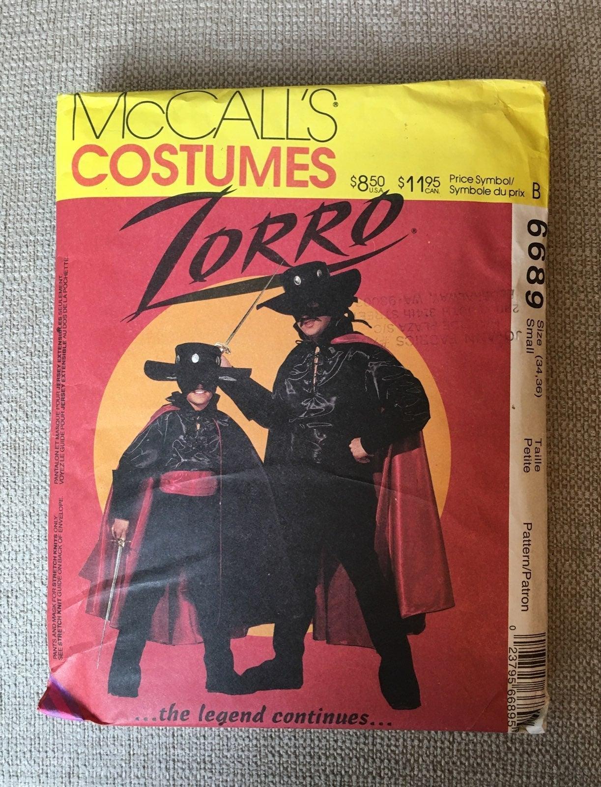 McCall's Costume Pattern 6689 - Zorro