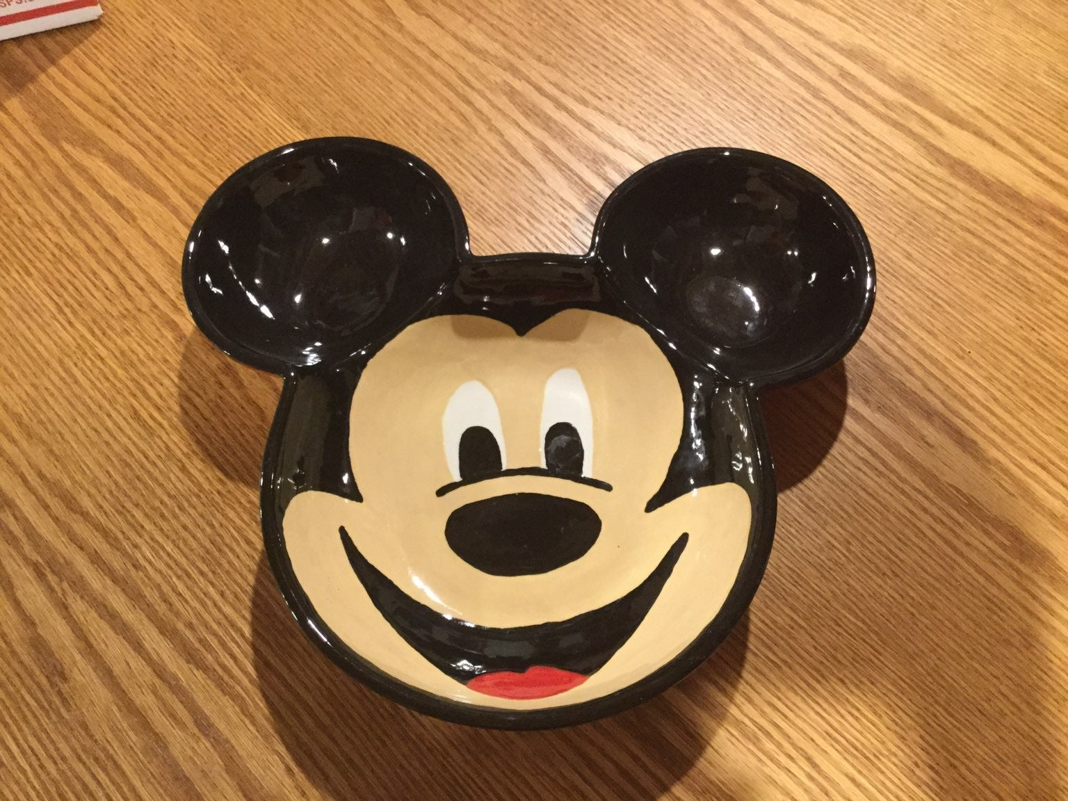 Mickey Mouse Handmade Pottery Bowl