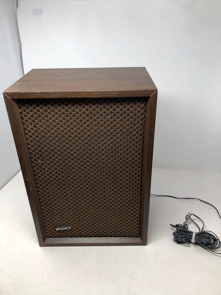 Vintage Sony Wood Cab Speaker Japan
