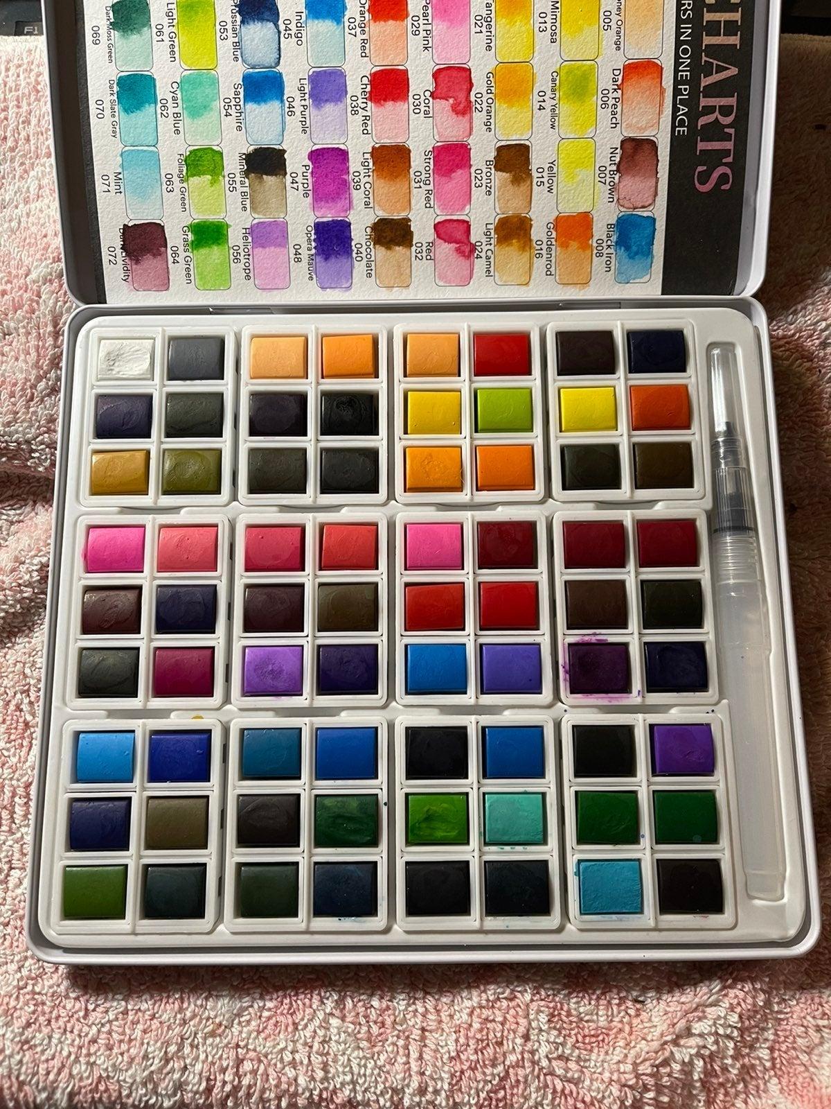 Watercolor Paint Palette 72 Colors