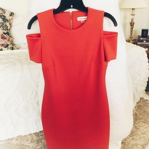 Calvin Klein Dress in Coral!