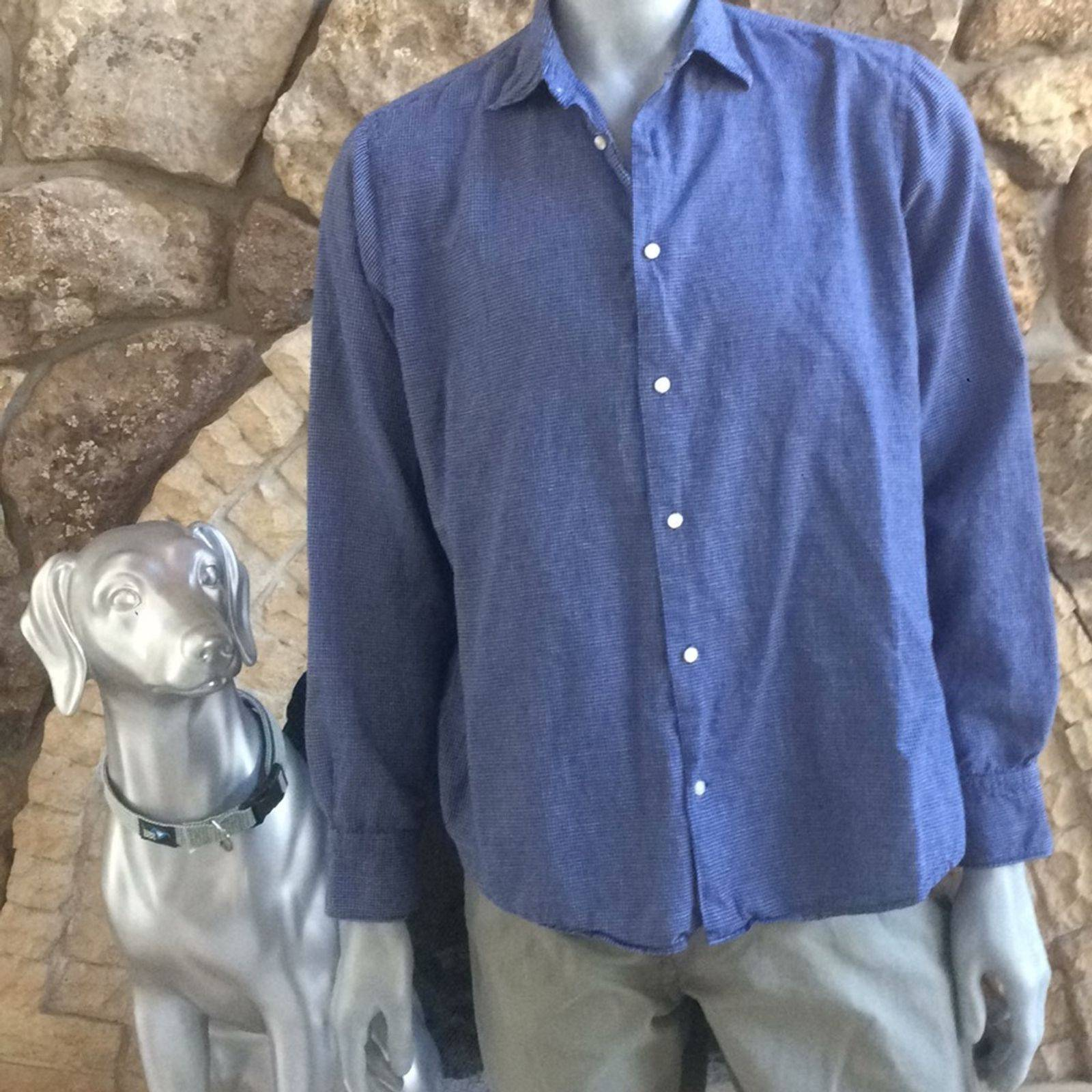 Vince Button Down Cotton Linen Shirt