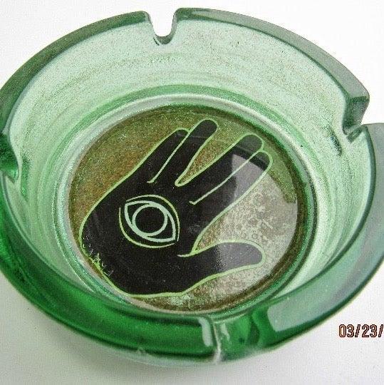 REZZ Glass Ashtray Trinket Dish Set Lot