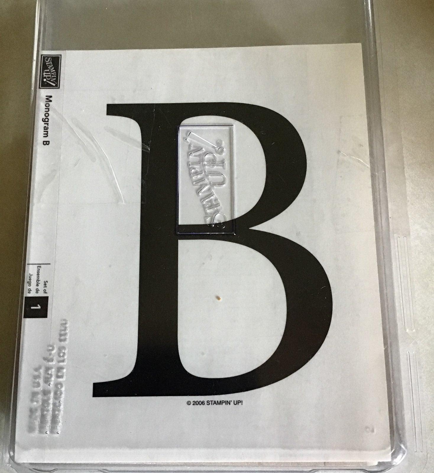 Stampin up monogram b stamp