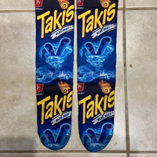 Blue Takis socks